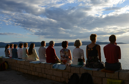 Qi Gong und Meditation Meer